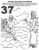 Peter Walks On Water Coloring Page - Eskayalitim