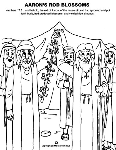 aaron and moses coloring pages - photo#16