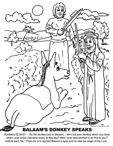balaam Colouring Pages